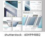 social media posts set.... | Shutterstock .eps vector #604994882