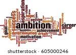 ambition word cloud concept.... | Shutterstock .eps vector #605000246