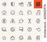 icons set | Shutterstock .eps vector #605002976