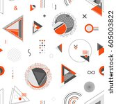 abstract geometric background.... | Shutterstock .eps vector #605003822