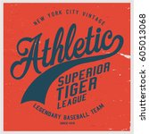 vintage varsity graphics and... | Shutterstock .eps vector #605013068