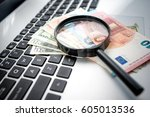 searching way to earn money on... | Shutterstock . vector #605013536
