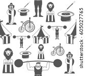 seamless pattern circus in...   Shutterstock .eps vector #605027765