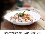 plates of traditional turkish... | Shutterstock . vector #605030198