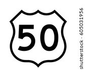 us route 50  filled with white | Shutterstock .eps vector #605031956