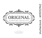 dark vintage retro badge... | Shutterstock .eps vector #605052962