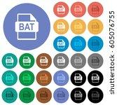 bat file format multi colored... | Shutterstock .eps vector #605076755
