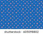 seamless background pattern... | Shutterstock . vector #605098802