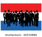 business people with flag | Shutterstock .eps vector #60510886