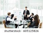business team gives a...   Shutterstock . vector #605125826