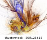 abstract fractal background.... | Shutterstock . vector #605128616