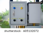 water pump control systems box | Shutterstock . vector #605132072