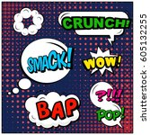 abstract creative concept comic ... | Shutterstock .eps vector #605132255