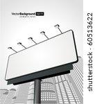 billboard with urban horizon...   Shutterstock .eps vector #60513622