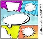 abstract creative concept comic ... | Shutterstock .eps vector #605136752