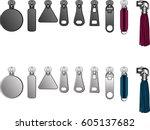 metal zipper puller...