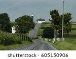 Road Leading Through Farmland...