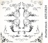 various elegance rule lines and ... | Shutterstock .eps vector #60515824