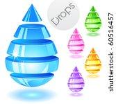 Drops. Abstract Design Element...
