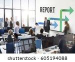 business team meeting... | Shutterstock . vector #605194088