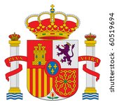 spain or spanish coat of arms... | Shutterstock . vector #60519694