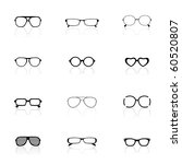 icon set  sunglasses   Shutterstock .eps vector #60520807