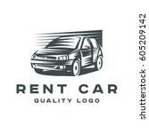 logo rental car quality sign... | Shutterstock .eps vector #605209142