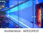 futuristic neon line and design ... | Shutterstock . vector #605214515