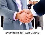 handshake isolated on business... | Shutterstock . vector #60522049