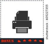 printer icon flat. simple...