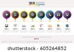 timeline infographics design... | Shutterstock .eps vector #605264852