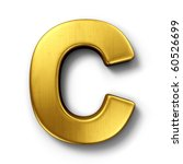 3d Rendering Of The Letter C I...