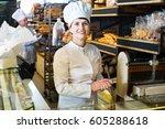 portrait of friendly female...   Shutterstock . vector #605288618