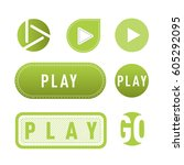 ui interface green button play...