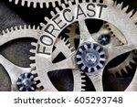 macro photo of tooth wheel... | Shutterstock . vector #605293748