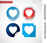 colored icon or button of heart ...