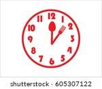 clock  fork  spoon  icon ...   Shutterstock .eps vector #605307122