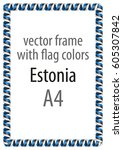 frame and border of ribbon with ... | Shutterstock .eps vector #605307842