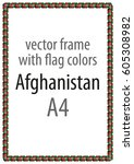 frame and border of ribbon with ... | Shutterstock .eps vector #605308982