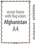 frame and border of ribbon with ... | Shutterstock .eps vector #605309006