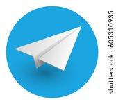 aircraft  icon. vector...   Shutterstock .eps vector #605310935