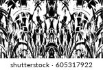 grunge black and white urban... | Shutterstock .eps vector #605317922