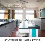 empty chemistry laboratory in a ... | Shutterstock . vector #605319446