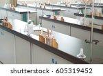empty chemistry laboratory in a ... | Shutterstock . vector #605319452