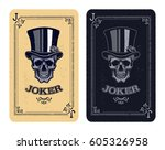 Joker Playing Card. Skull Poke...
