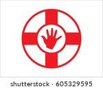 lifebuoy  icon  vector... | Shutterstock .eps vector #605329595