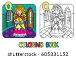 coloring book or coloring... | Shutterstock .eps vector #605331152