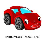 red car. raster image. | Shutterstock . vector #60533476