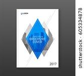 brochure cover design layout... | Shutterstock .eps vector #605334878
