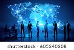 business people discussion... | Shutterstock .eps vector #605340308